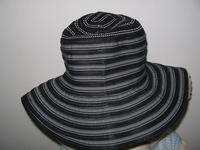 Floppy Hat: Black Toyo and Polyester Ribbon