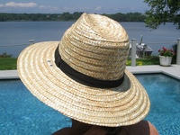 Trilby Straw Hat: a Fedora with Black Band