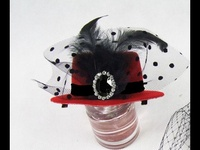Fascinator - $12.95 - Lace, Feather, Jewel on a Little Hat