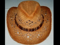 Cowboy Hat - Wooden Beads