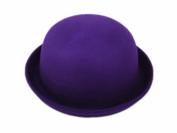 Purple Wool Felt Bowler Hat   That Way Hat. New 9d9da23fe8d4
