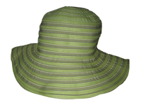 Floppy Hat: Green Polyester and Toyo
