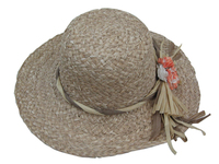 Straw Hat with Flowers $24