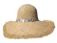 Real Mother of Pearl Band - Raffia Hat