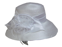 Elaborate Polyester Hat - in Red, Black or White