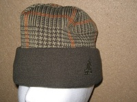 Kangol Winter Cap - Dark Green, Brown & Orange Pattern