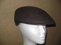 Scally Cap - Dark Brown Wool Felt