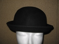 Black Wool Bowler Hat