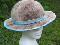 She's All Yours - Alpaca Blue Trim Fleece Hat