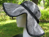 Incognito Alpaca Black Trim Flanged Brim Hat