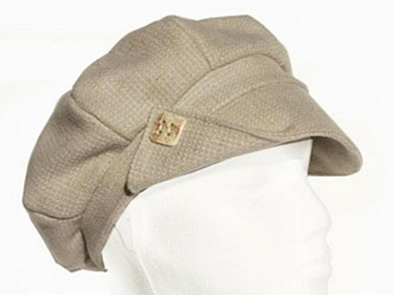 Gatsby Natural Fiber Scally Caps in Beige and Black Speckles   That Way  Hat. New d809ba8d2ee