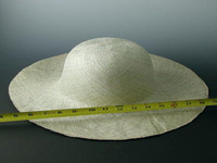 Sage Color Super Fine Weave  Stiffened Pari Sisal Hat Body