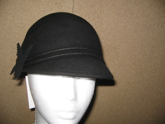 94bf0c03820 Wool Flapper Hat - Black or Chocolate   That Way Hat. New