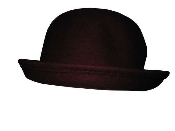 0deaa3cd0 Dark Red Wool Bowler Hat