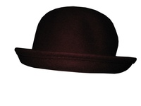 Dark Red Wool Bowler Hat