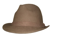 Ochre Wool Fedora with Felt Band