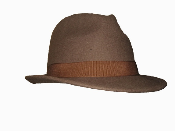 Earth Color Fedora with Brown Band   That Way Hat. New 4b07cbdfd1a