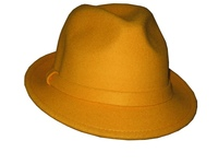 Blaze Orange or Yellow Wool Fedora