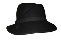 Strictly Business Black or Maroon Women's Wool Felt Hat