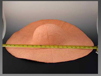 Stiffened Oversized Hat Body in Basketweave