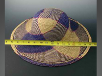 Lindu Straw Hats with Blocked Swirl Design