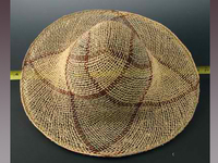 Elliptical Swirl Pattern Jute Straw Hat Body