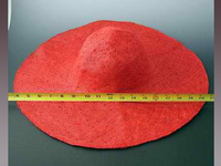 Stiffened Large Hat Body of Knotted Sinamay Weave