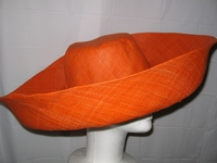 Bright Orange Giant Brim Sun Hat - Madagascar