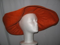 Karaoty Bright Orange Giant Brim Sun Hat - Madagascar