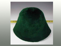 Hat Hood with Outside Beaver Finish and Fur Felt Inside