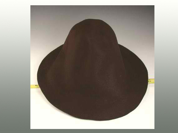 Flare Shaped Rabbit Fur Felt Hat Cone Body   That Way Hat. New 70e0928ef