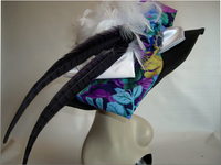 Sold - Black Derby Hat Of Paper Braid Weave