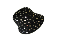 Silver Coin Black Women's Hat