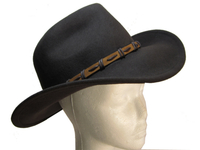Crocodile Brown Wool Felt Outback Hat