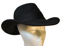 Black Wool Felt Cowboy Hat with Bow