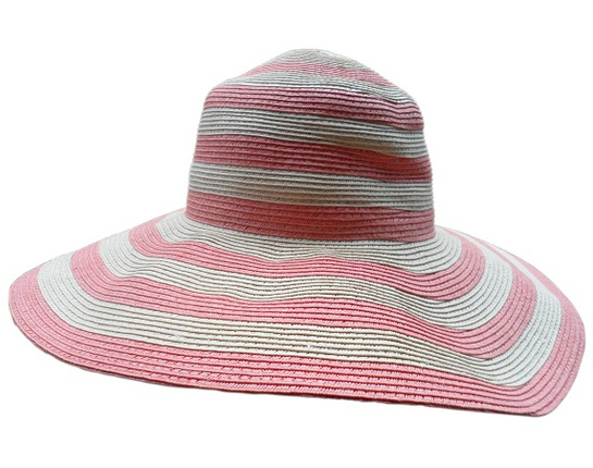 Pink and White Summer Sun Hat -for Extra Small Heads   That Way Hat. New 4229ab54662
