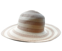Brown and Tan Summer Sun Hat