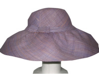 Matromatroka Faded Lavender Blue Wide Brim Raffia Hat from Madagascar