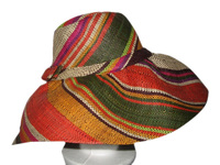 "Extra, Extra Large Head Hat Multicolor ""Orange Jungle"" Colors Madagascar Hat"