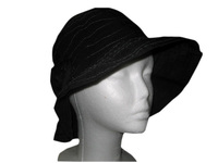 Tulip Hat in Black or Cream