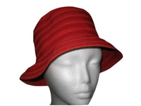 Red Flat Top Bucket Hat