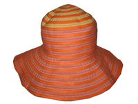 Floppy Hat -- Orange Polyester & Toyo