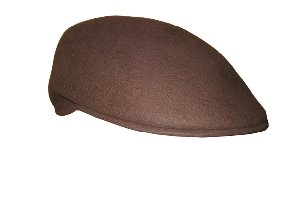 scally cap medium brown wool that way hat new hand crafted and