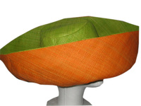 Alokaloka Molony Green and Orange Shade Brim Sun Hat - Madagascar