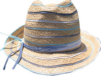 Soft Raffia Fedora -- A Jazz Picnic Hat (May Attract Honey Bees :-)