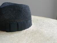 Black and Cream Fedora Beach Hat