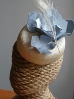 Blue Flower Cream Fascinator Head Piece