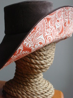 Brown Linen Sunhat