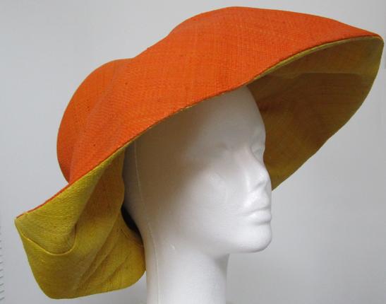 c4aee016b2487 Orange and Yellow Madagascar Raffia Hat   That Way Hat. New