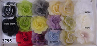 Silk & Organdy Rose Hat Trim